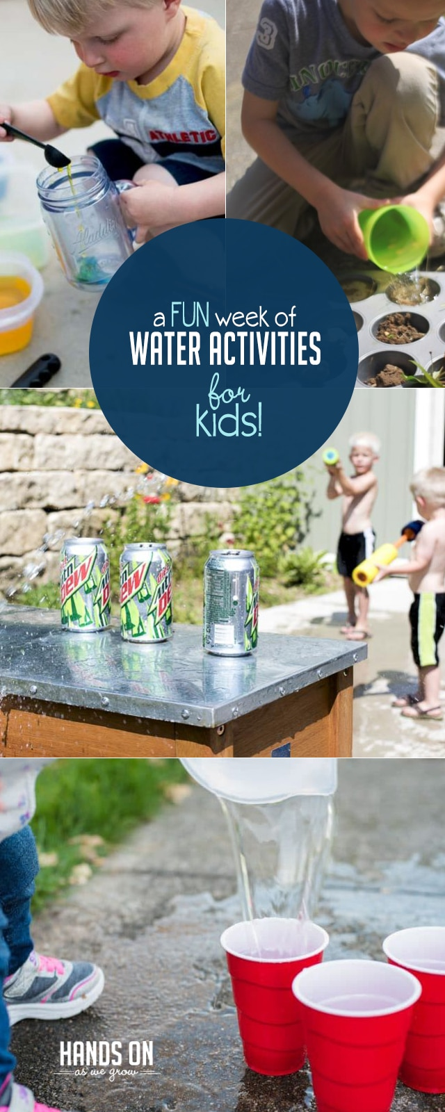 A week of fun water activities for kids to do - these look like so much fun!
