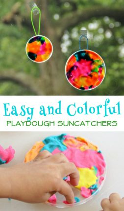 Play Dough Suncatcher Craft