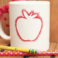 Apple mug teacher gift