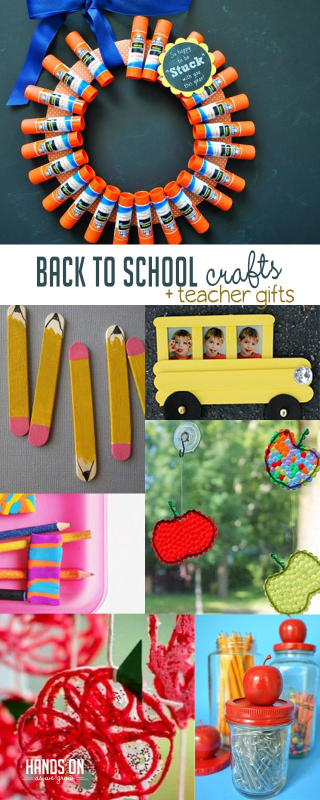 Make the start of school super special with cute back to school crafts that double as teacher gifts!