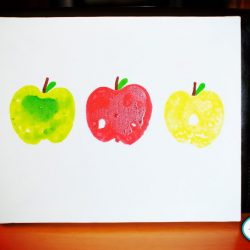 Apple print teacher gift