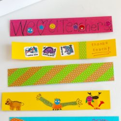 DIY bookmark gift for teachers