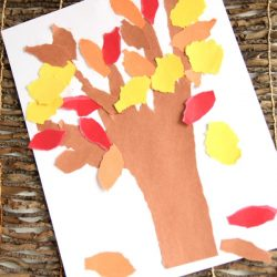 Torn Paper Fall Tree Craft