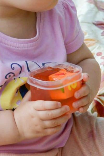 Jello is a fantastic sensory experience for babies and young toddlers. Especially kids that still put everything in their mouth (know one?).