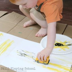 Bus painting - a back to school craft for kids