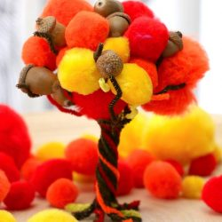 Fall Pom Pom Tree