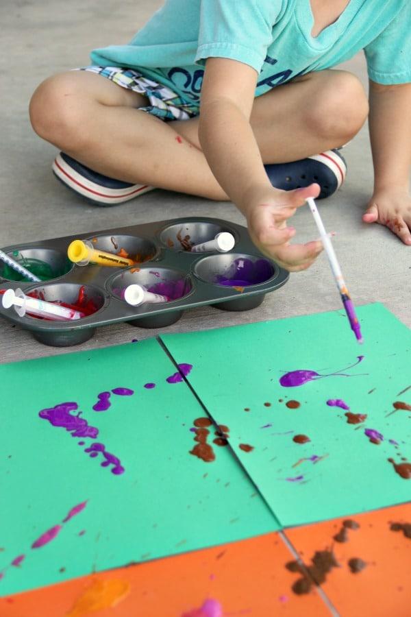 simple syringe painting for preschoolers hands on as we grow. Black Bedroom Furniture Sets. Home Design Ideas