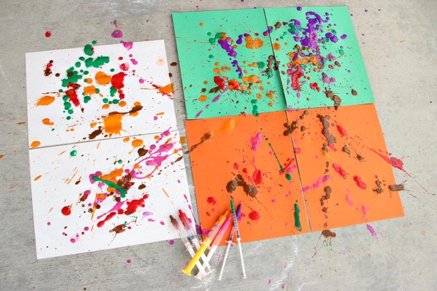 Simple Syringe Painting For Preschoolers Hands On As We