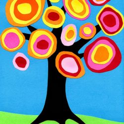 Kandinsky Fall Tree Art