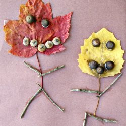 Simple Leaf Window Garland People Fall Art1