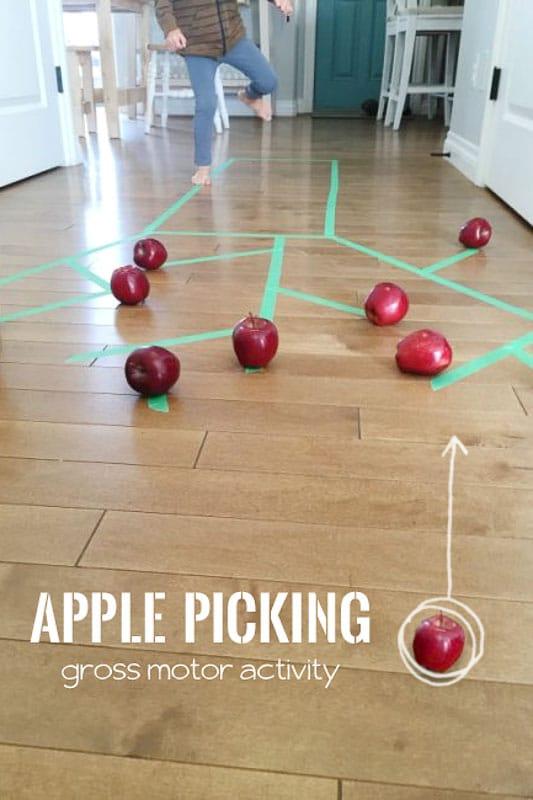 Gross motor apple picking activity hands on as we grow for Preschool gross motor games