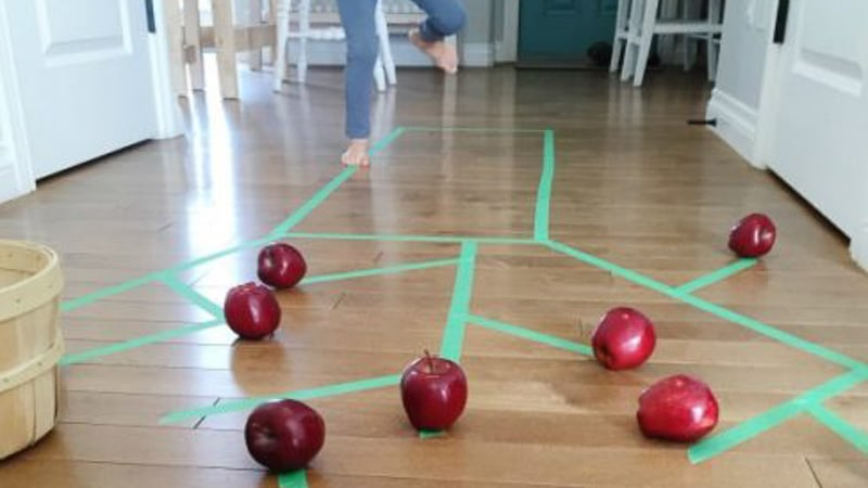 Gross motor apple picking activity hands on as we grow for Gross motor activities for 1 year olds