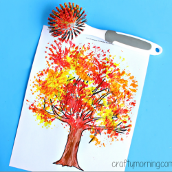 Dish Brush Fall Tree