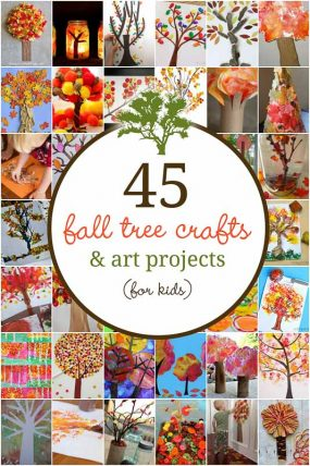 45 Fall Tree Crafts that are Gorgeous for Kids to Make
