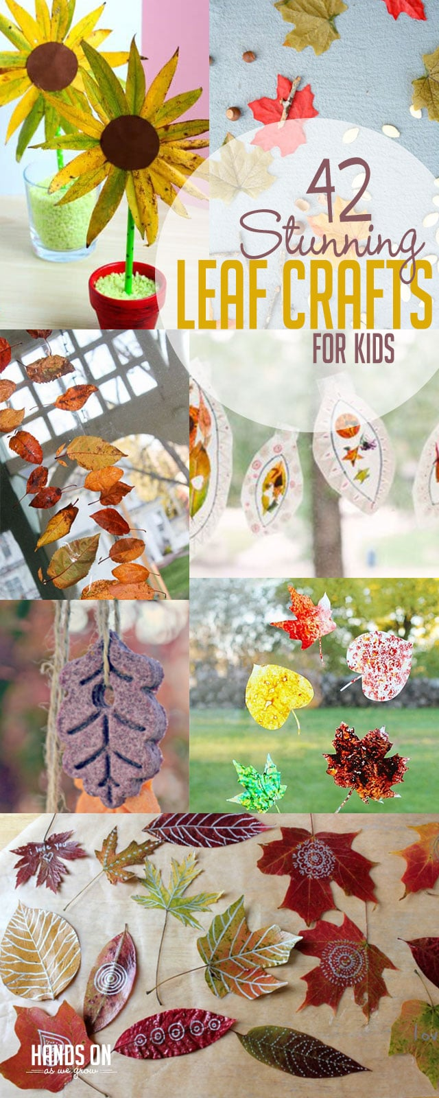 Check out fun leaf crafts for kids to make!
