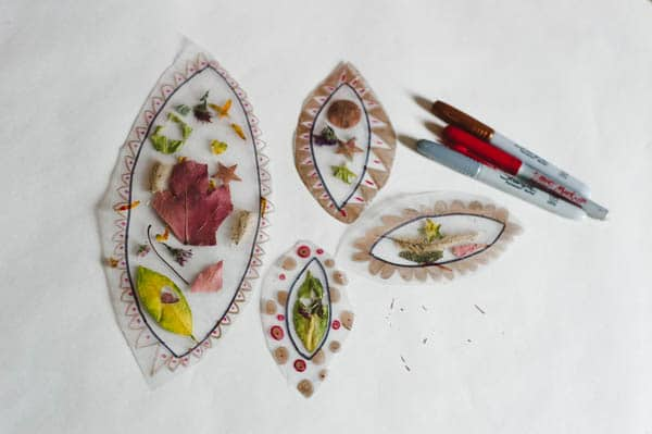 Make a colorful fall leaf suncatcher collage