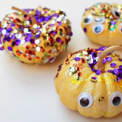 Sparkly and Googly Eyed No-Carve Pumpkins