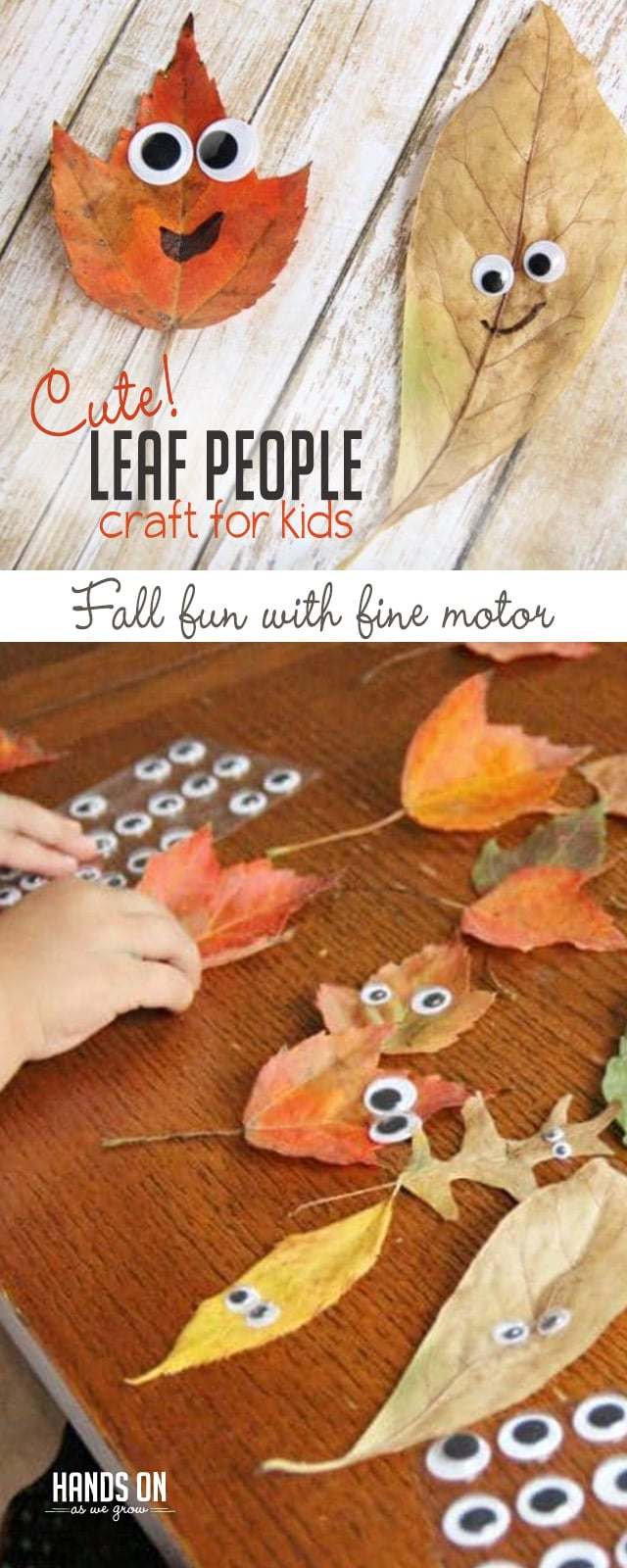 Cute Leaf People Fall Craft For Kids Hands On As We Grow