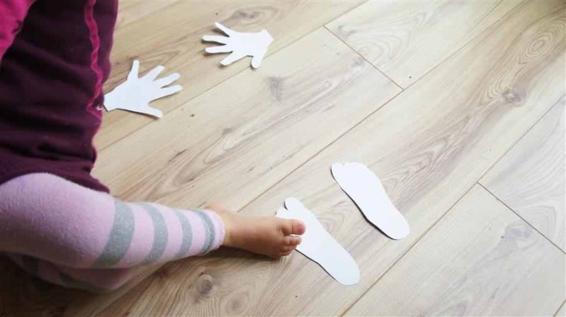 Active kids will love these paper hands and feet, a simple gross motor activity!