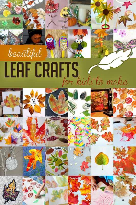 41 stunning leaf crafts for kids to make