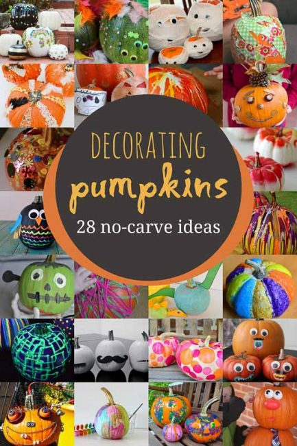 No Carve Pumpkin Decorating For Kids To Get Creative