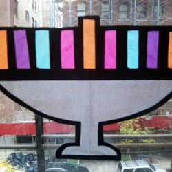 Stained Glass Menorahs
