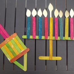 Popsicle Stick Chanukah Decorations