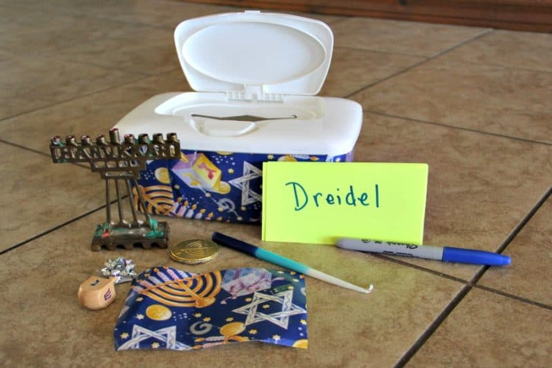 This touch and feel Hanukkah game for kids is a perfect way for kids to learn about the special items of your holiday!