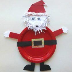paper plate santa craft - Santa Claus Preschool Crafts