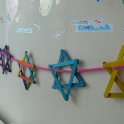 Popsicle Star of David Bunting