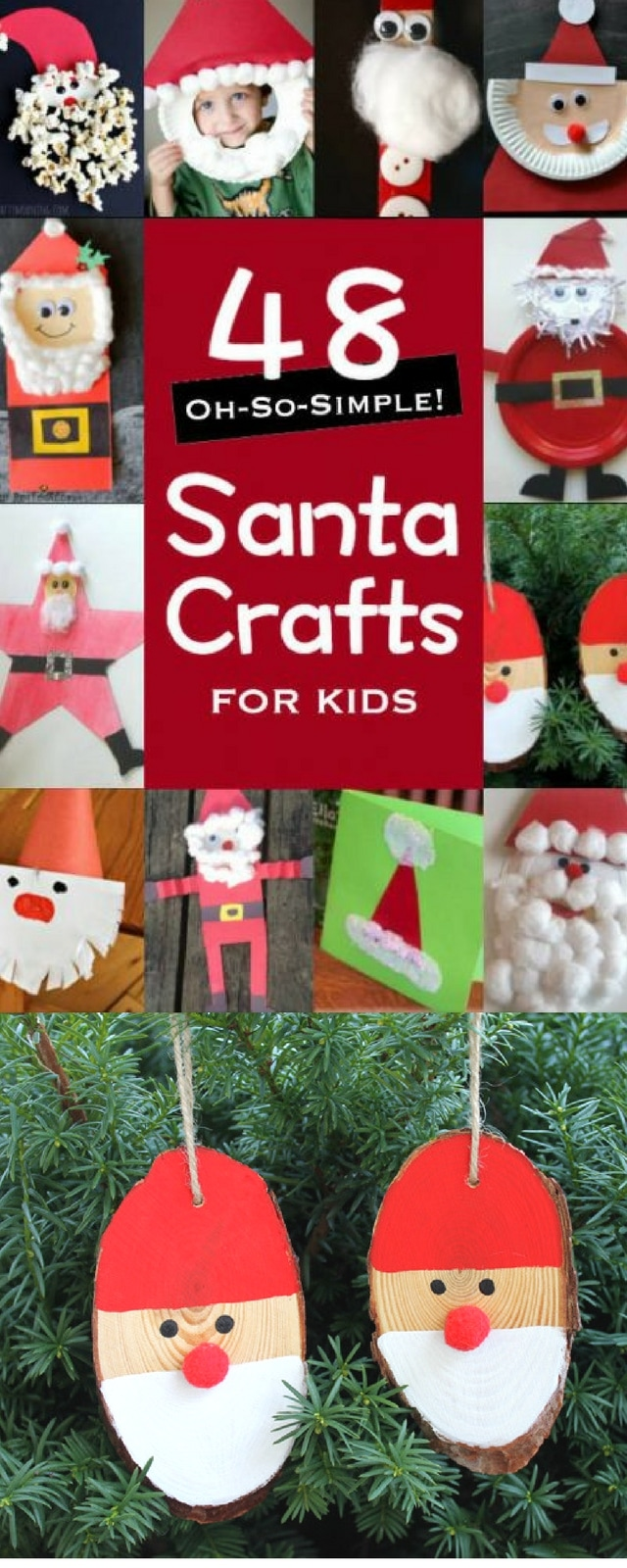 48 Santa Crafts for Kids to Make! Oh-So-Simple!