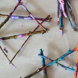 Stick Stars of David