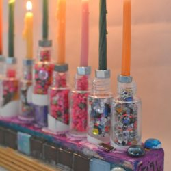 Make Hanukkiahs from Recycled Materials