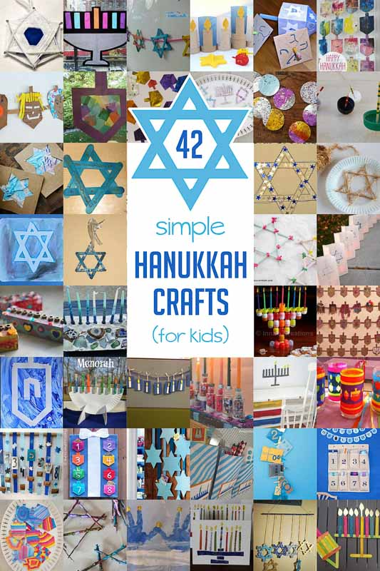 42 simple hanukkah crafts for kids to make hands on as for Menorah arts and crafts