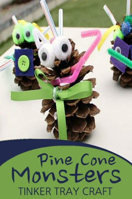These Tinker Tray Pine Cone Monsters Are Adorable!