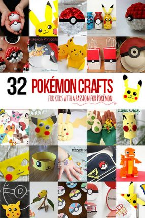 32 Pokémon Crafts for Kids with a Pokémon Passion
