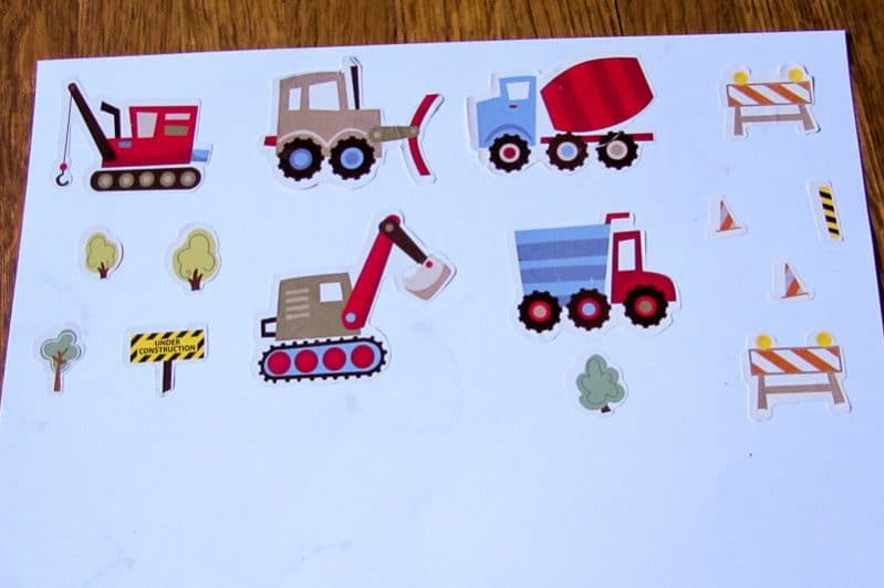 Make an easy sticker puzzle your kid can use again and again!