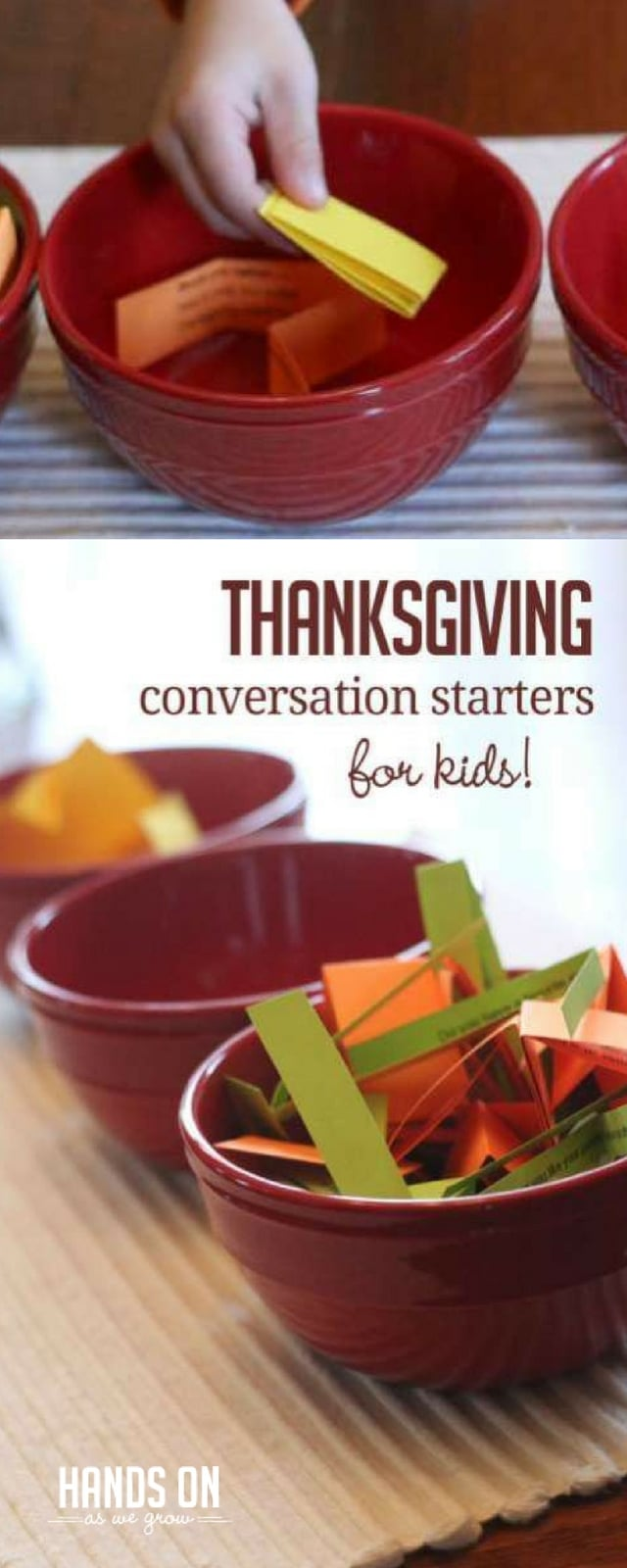 10 simple Thanksgiving conversation starters for young kids to express their gratitude.