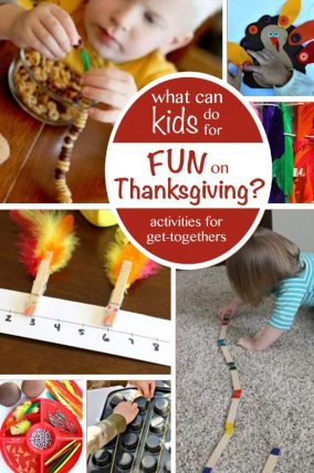Fun ways to keep the kids occupied and happy at Thanksgiving get-togethers.