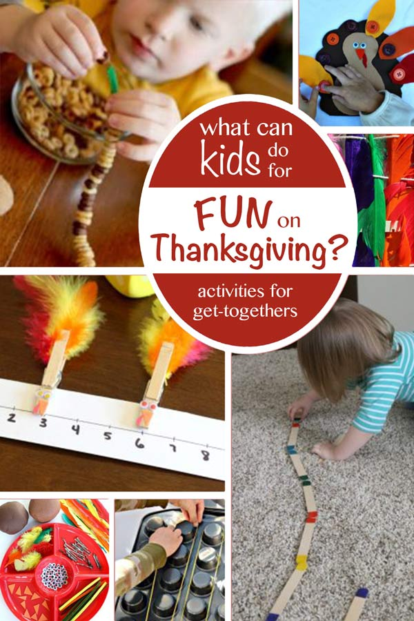 How to keep the kids having fun on Thanksgiving day, so you can have an adult conversation.