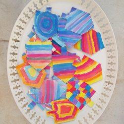Watercolor Dreidel Craft for Hanukkah