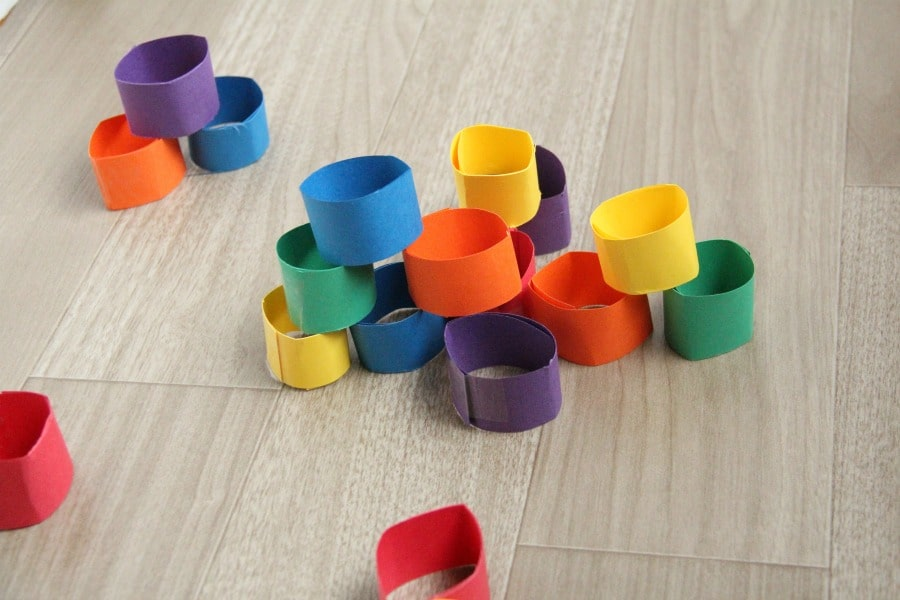 DIY building blocks are a great way to work on fine motor skills with kids.