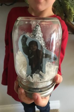 DIY Snow Globe gift for kids to make