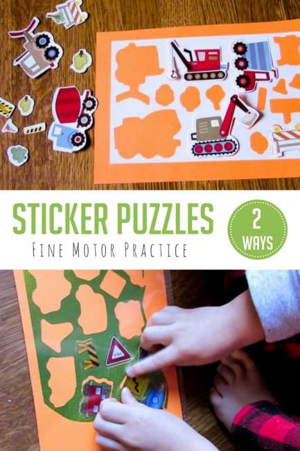 how to make a sticker puzzle for your sticker fan 2 ways