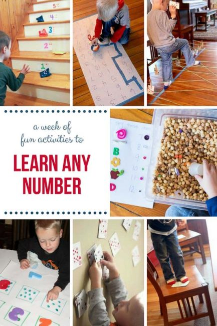 Activities to help a preschooler learn a number