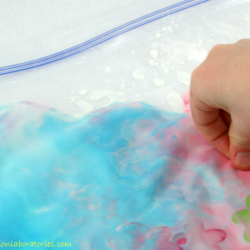 Color Mixing Oobleck Sensory Bag