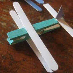 Clothespin Airplane Craft