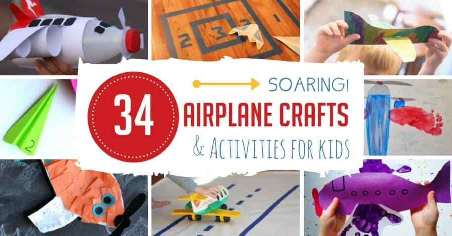 34 soaring airplane crafts activities for kids hands for Airplane crafts for toddlers