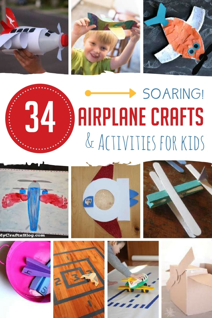 548ade1cd 34 Soaring Airplane Crafts & Activities for Kids | Hands On As We Grow®