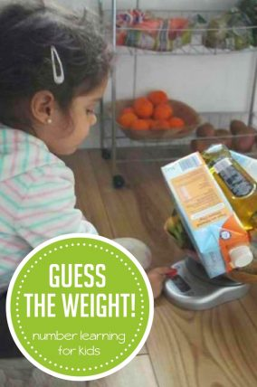 Easy Number Learning Activity on a Kitchen Scale